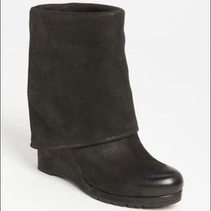 Prada Shoes - PRADA CUFFED FOLD-OVER WEDGE ANKLE BOOTS 40